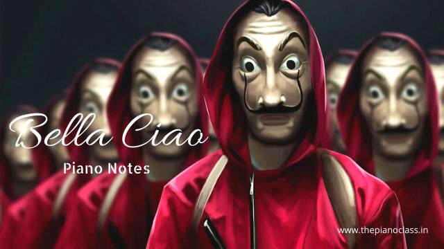 Bella Ciao Piano Notes Money Heist All Episodes Netflix Series Netflix