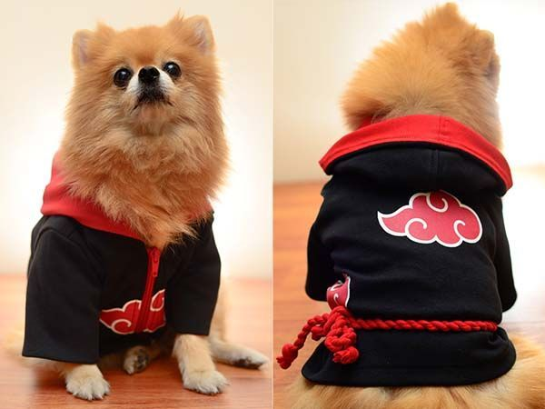 Japanese Anime Naruto0 Cosplay Mini Dog Cat Cloak Clothes Pet Costume Ninja