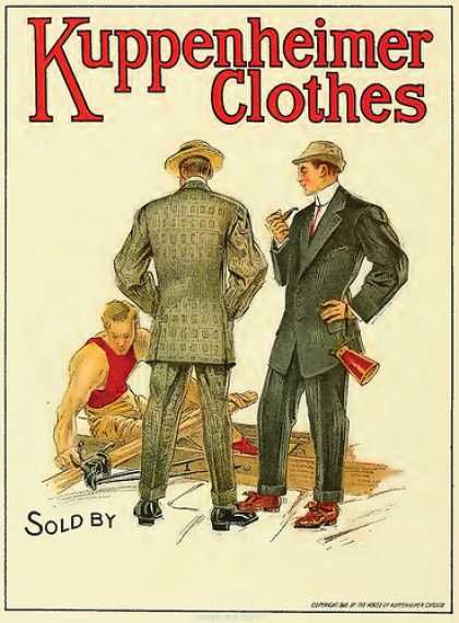 MENS CLOTHING: A Top brand during the era - Kuppenheimer ...