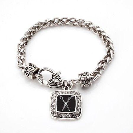 The Stylist Braided Charm Bracelet