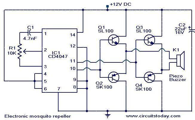 Electronics Circuit Circuit Diagram Electronic Mosquito