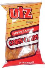 Utz Bbq Corn Chips Taste These Are Fairly Ordinary Barbecue Corn Chips They Re Shaped Corn Chips Bbq Corn Chips
