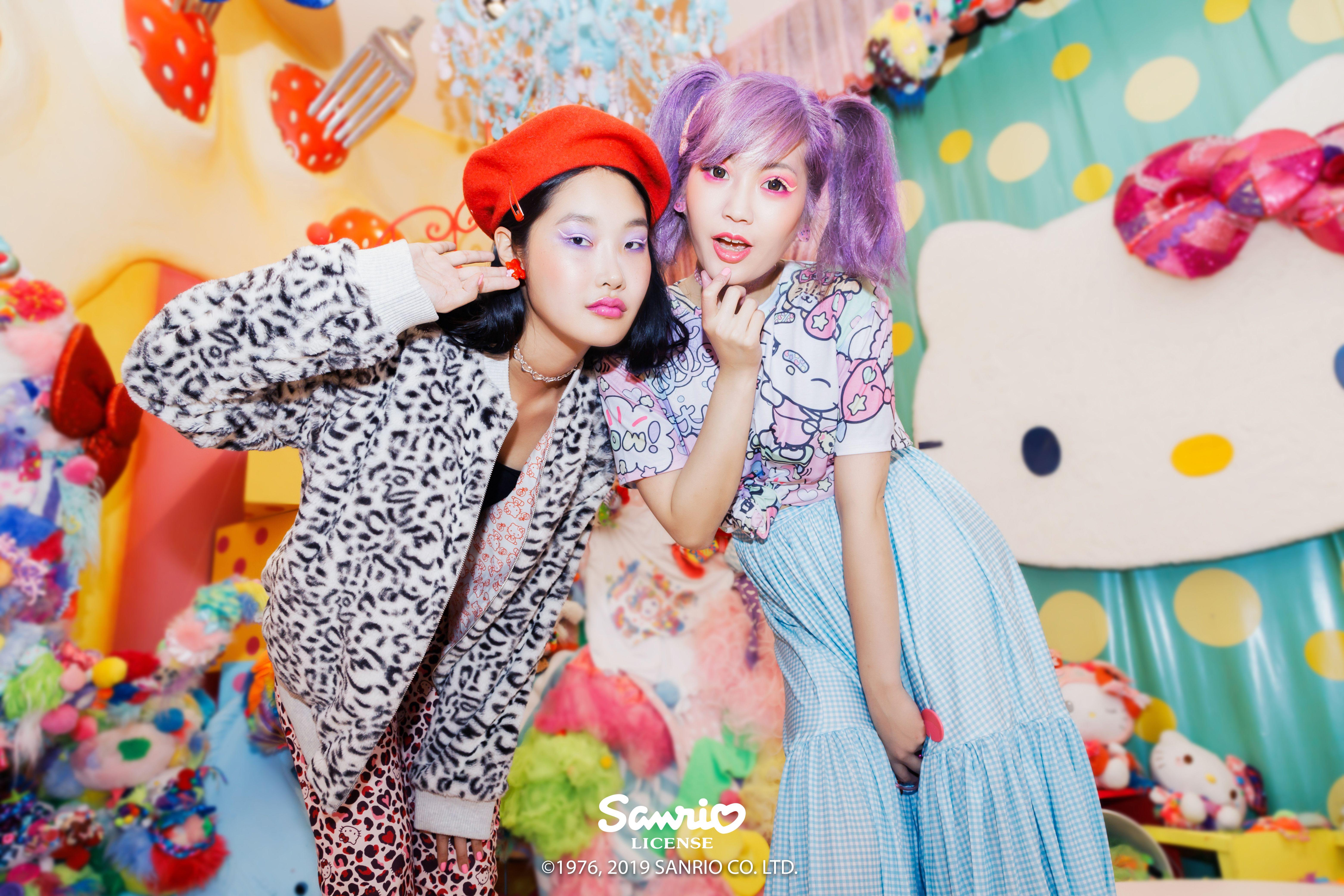 Hello Kitty Friends Furever Bomber Jacket 139aud Hello Kitty Lover Cuffed Pants 119aud Hello Kitty Harajuku Bft Black Milk Clothing Black Milk Harajuku [ 4160 x 6240 Pixel ]