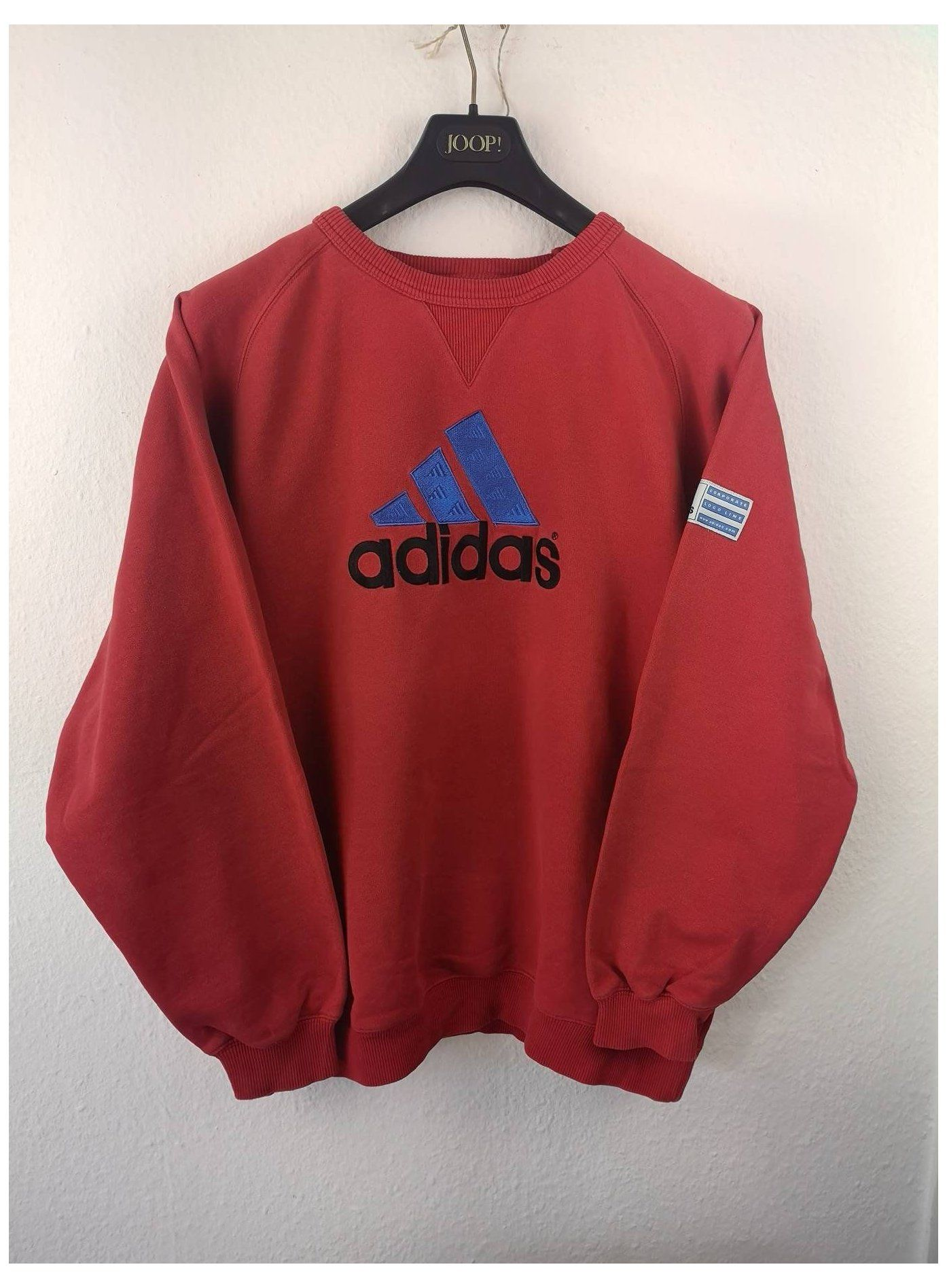 Selten Vintage Adidas V Neck Corporate Logo Line Braun Unisex Etsy Adidas Pullover Rot Vintage Hoodies Hipster Outfits Vintage Adidas [ 1896 x 1394 Pixel ]
