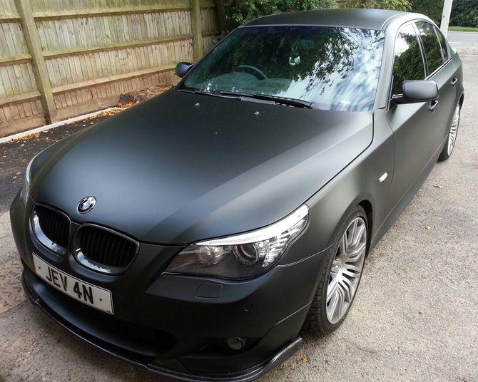 Bmw M5 Matte Black Wrap Bmw E 60 M 5 Car Wrap Bmw 525