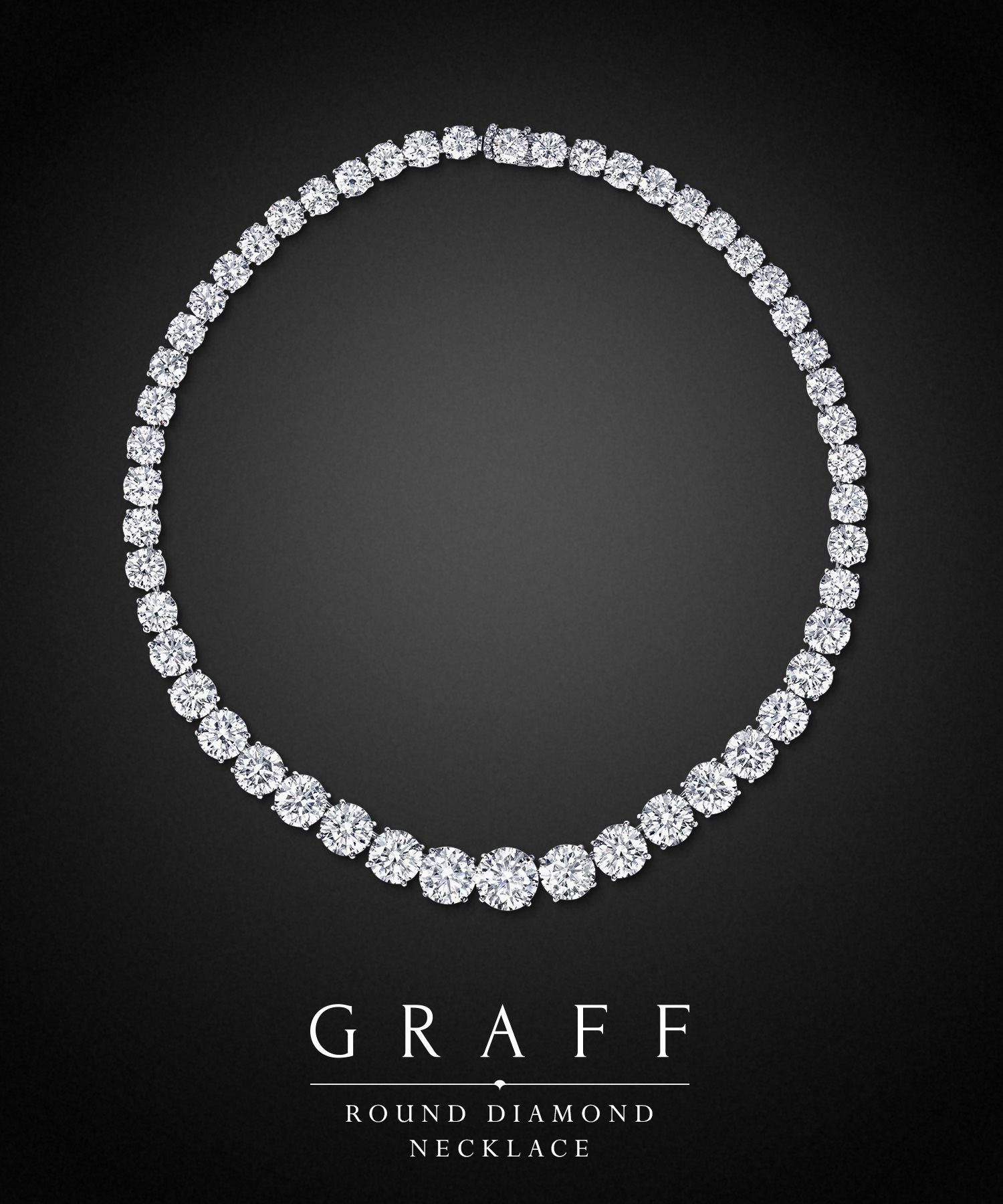 cc25a7acbb7 Graff Diamonds: Round Diamond Necklace #diamondnecklace | Classy ...