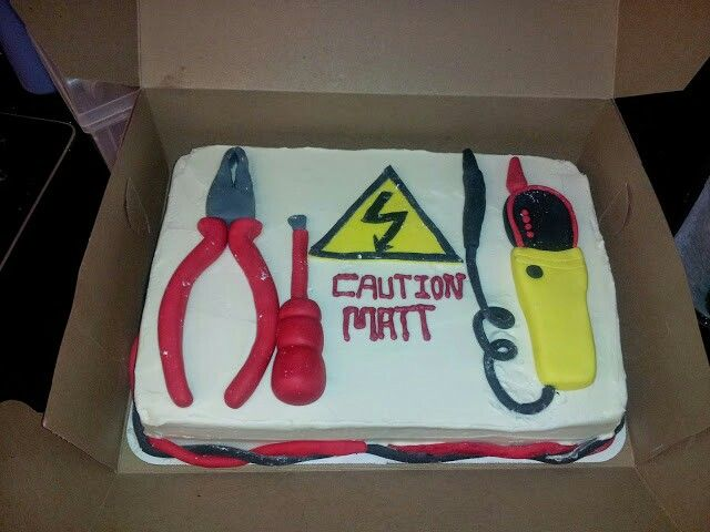 Electrical theme cake perfect for your favorite electrician