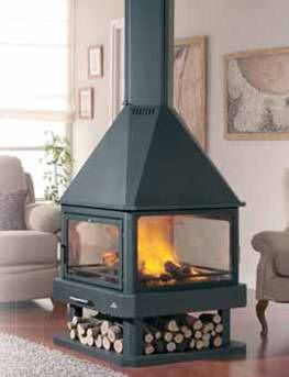 Outdoor Coal Wood Burning Furnace Stove Boiler Burn Both