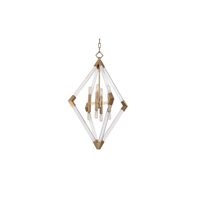 Hudson Valley Lyons 8 Light Aged Brass Pendant