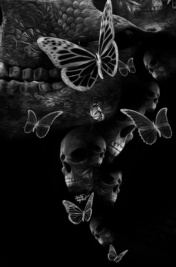 FANTASMAGORIK® DARK BUTTERFLY... S) | Dark art photography, Skull artwork, Dark art