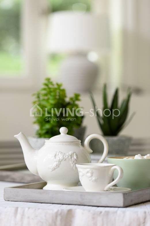 Plateau Oosterse print tray mint J-Line #LIVING-shop stijlvol wonen webshop