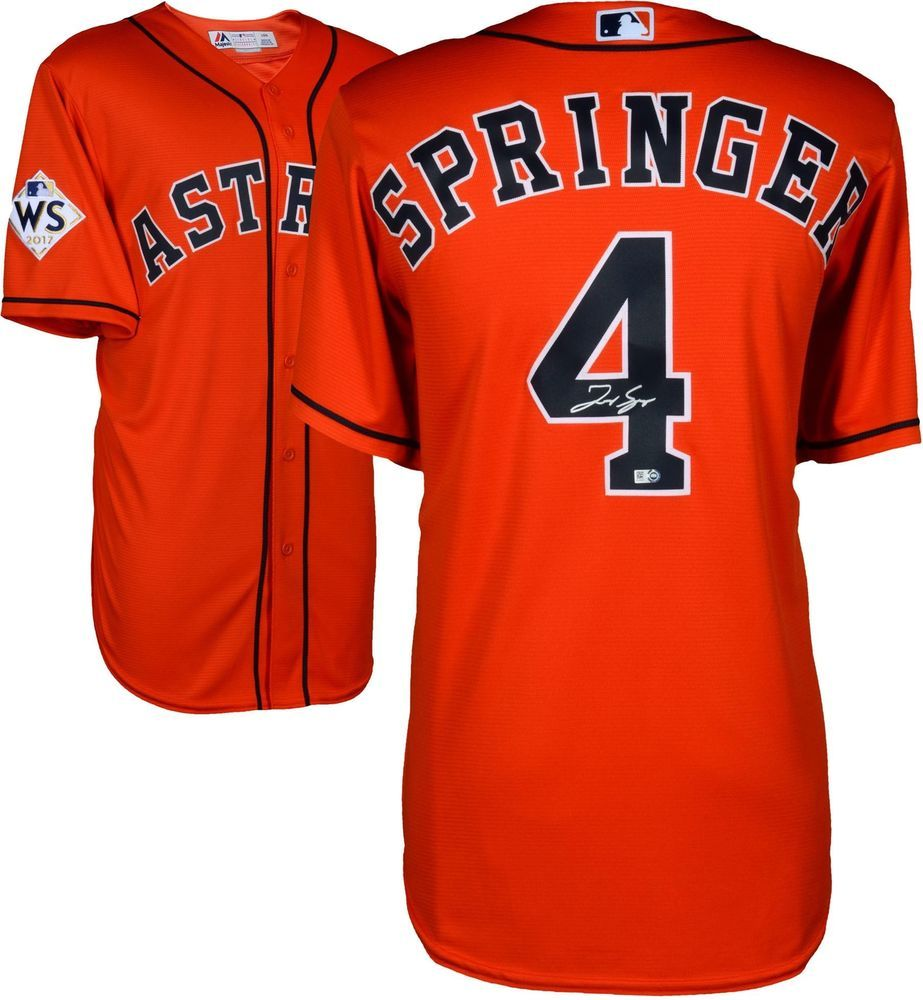 check out 1f719 59815 George Springer Astros 2017 MLB World Series Champs Signed ...