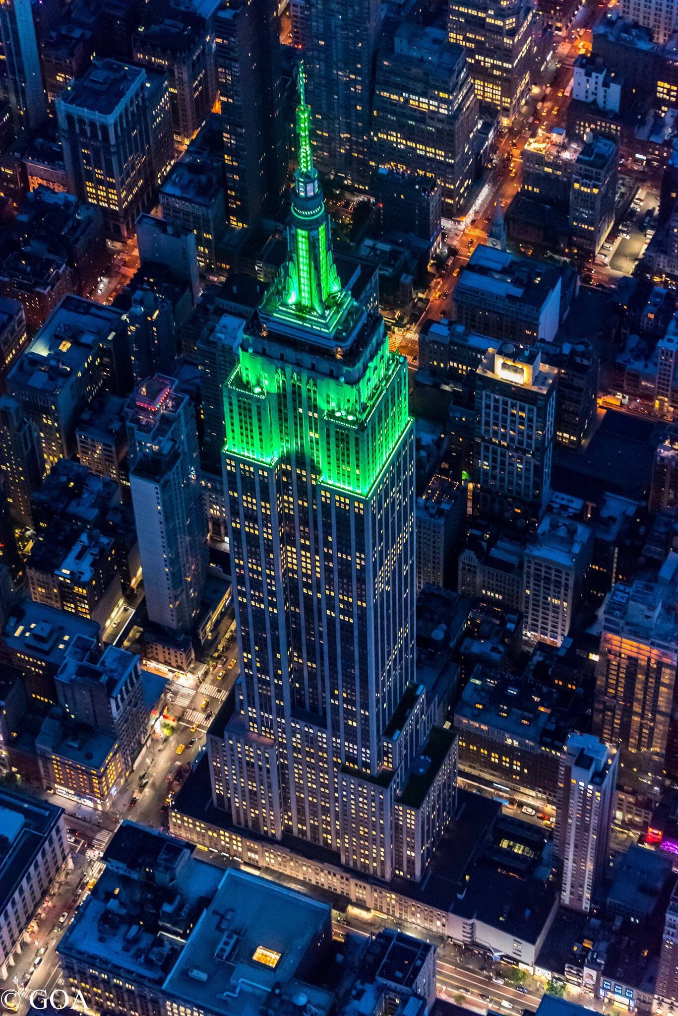 """""""ESB Green at the Blue Hour"""" by Gary Aidekman Empire"""