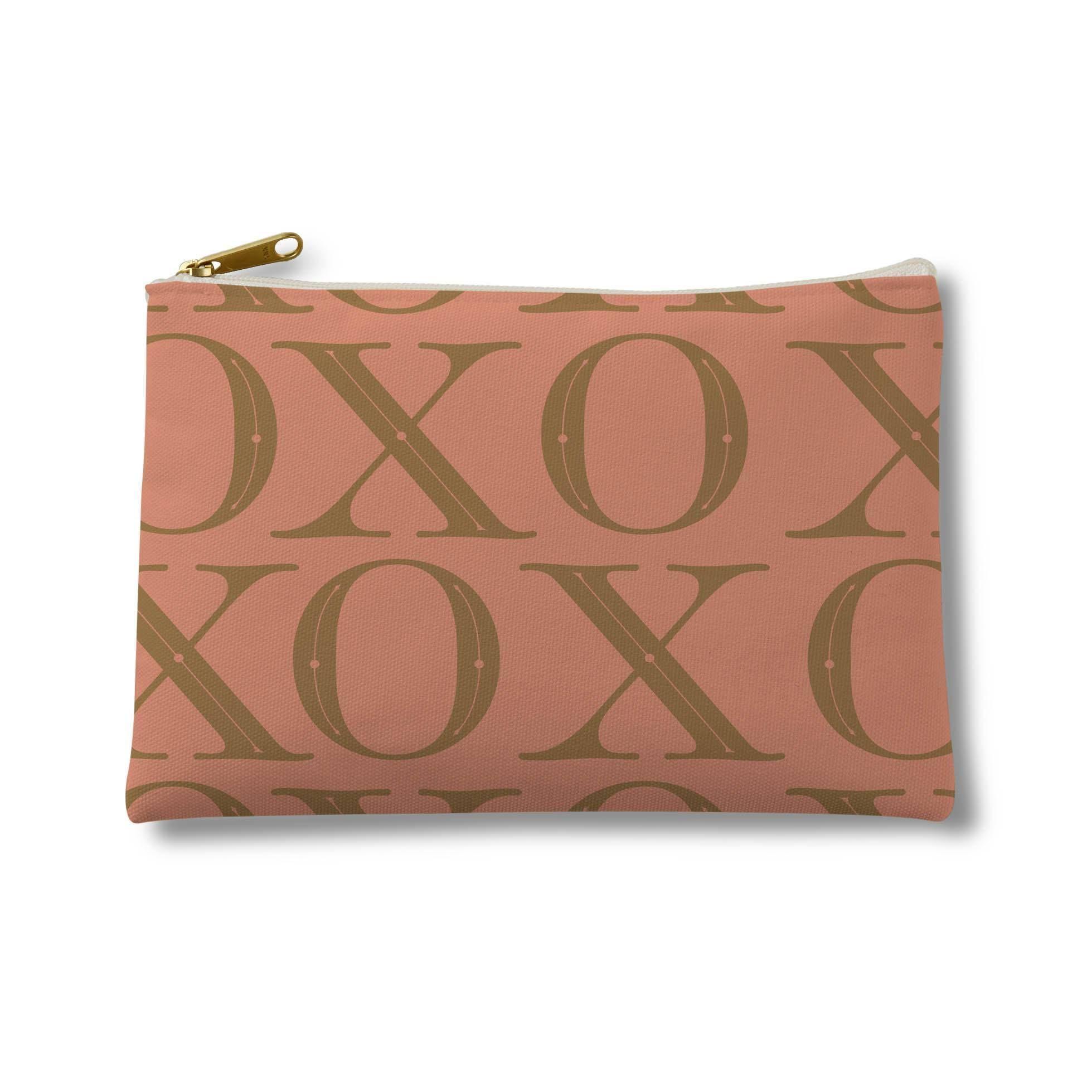 Tailored XO Pattern-Gold on Light Peach