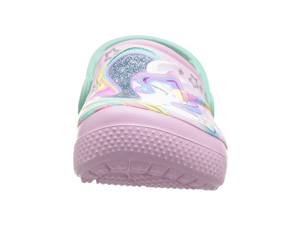 1e7bf58b24c Crocs Kids FunLab Unicorn Clog (Toddler Little Kid) Kid s Shoes Ballerina  Pink New Mint
