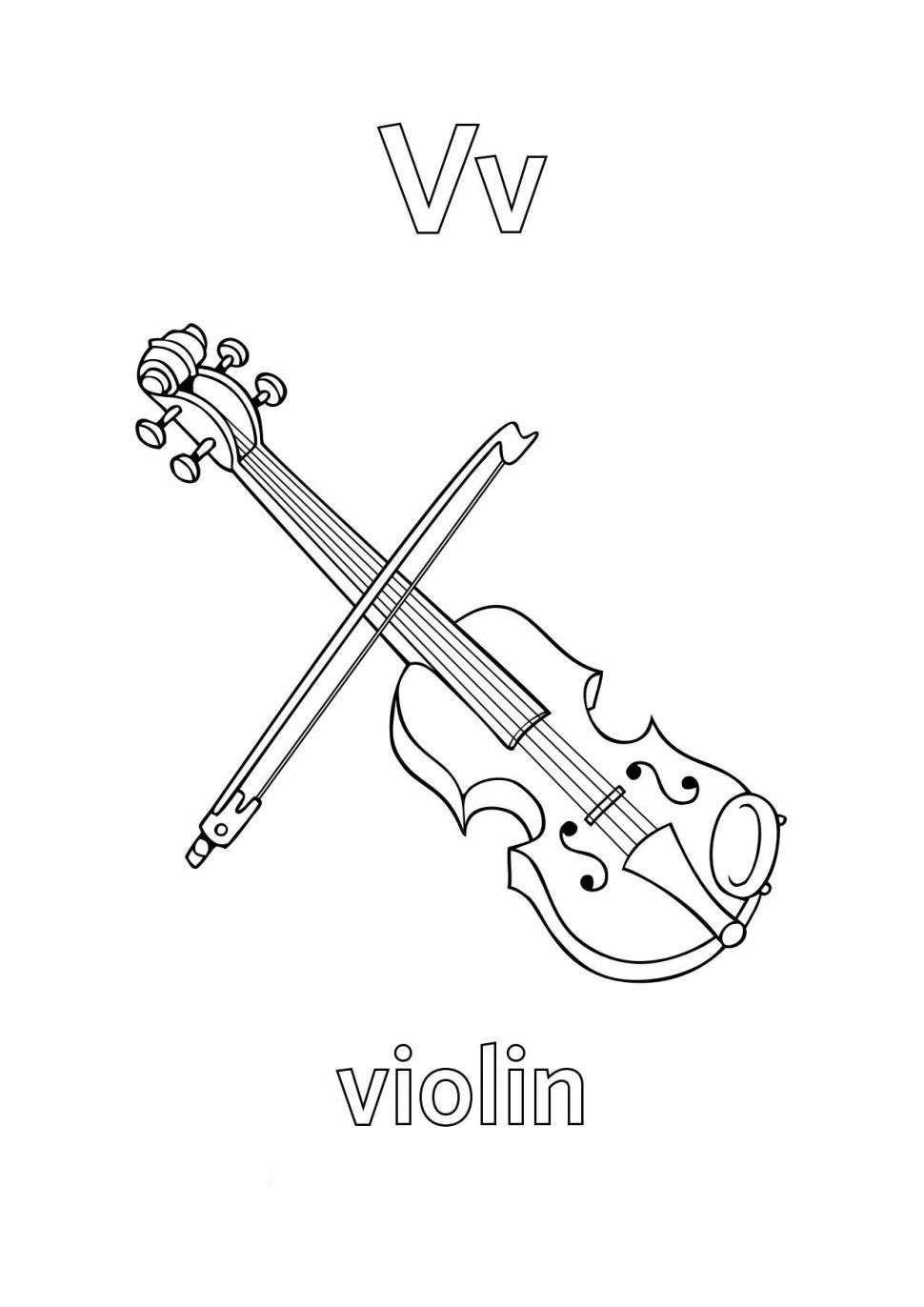 Violin Coloring Pages Best Coloring Pages For Kids Alphabet Coloring Alphabet Coloring Pages Letter A Coloring Pages