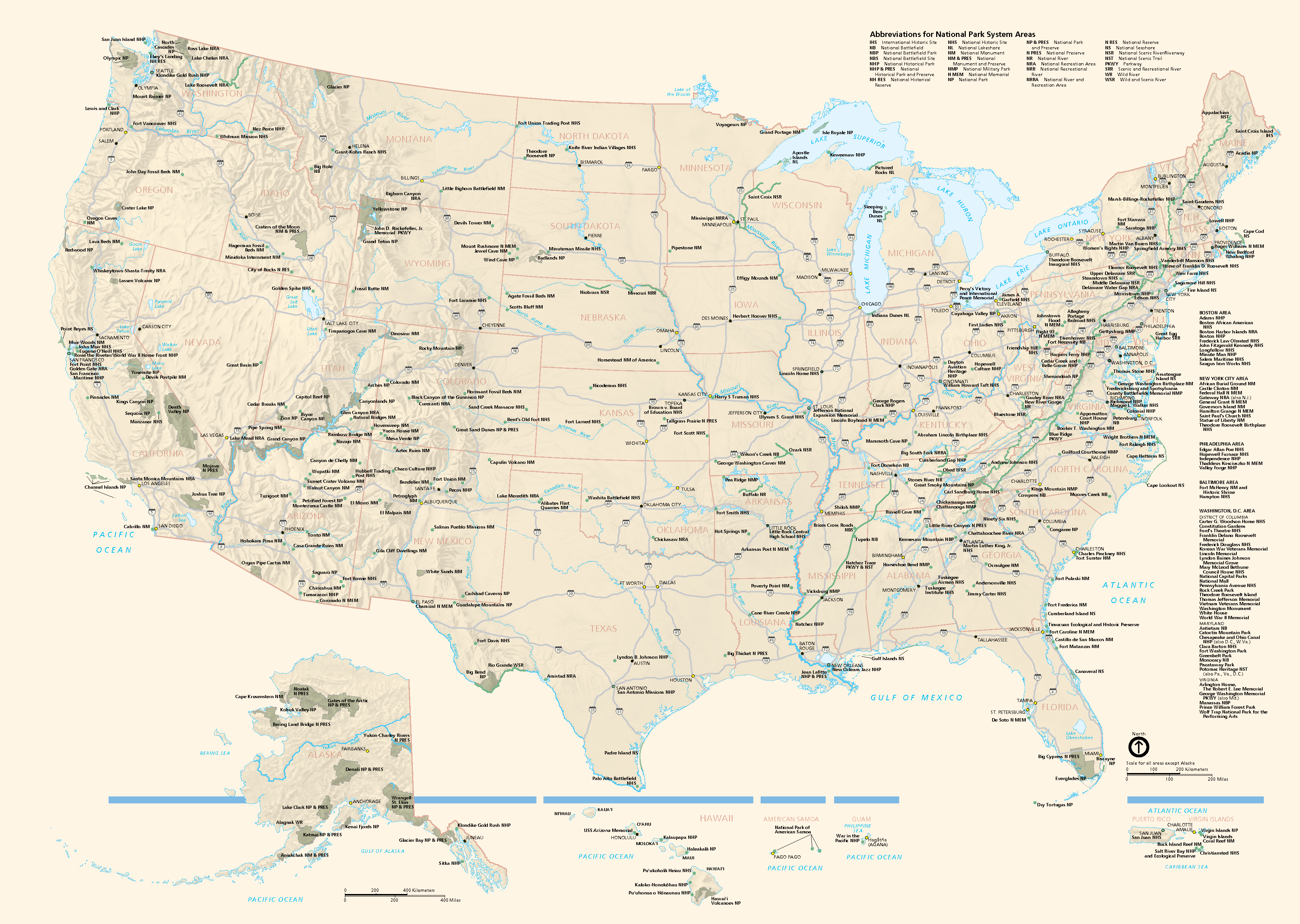 Map Of All US National Parks US National Parks Pinterest - Map of all national parks in us