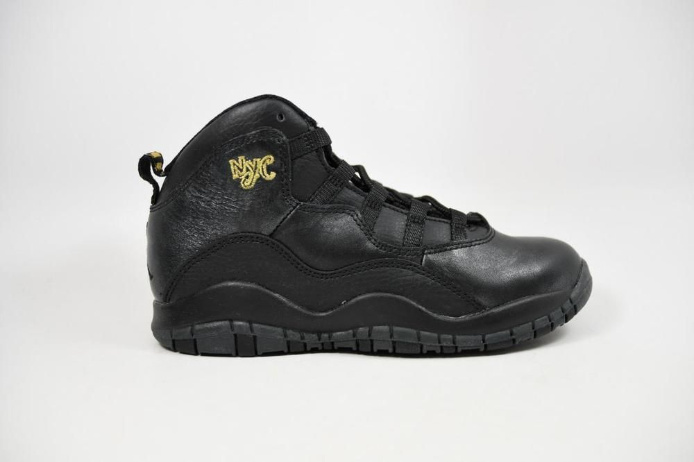 newest d1c36 d2bc8 eBay  Sponsored Nike Jordan 10 Retro BP NYC Black Grey Gold lot 310807 012  Pre School Size 2