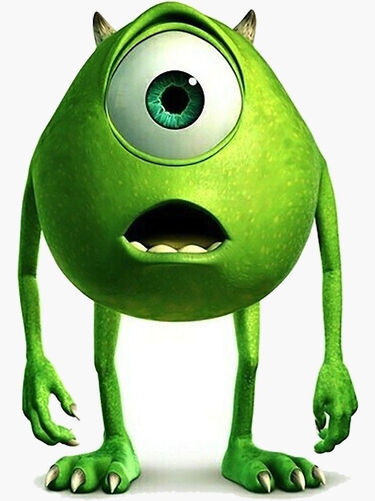 Mike Wazowski Sticker By Emkennedy98 In 2021 Monsters Inc Green Characters Monsters Inc Characters