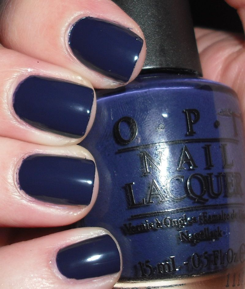 Opi Road House Blues With Images Navy Blue Nail Polish Opi