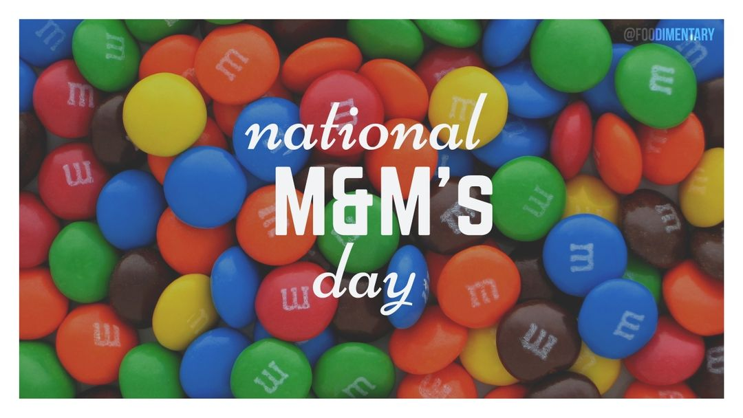 October 13th is National M&M's Day! Holiday recipes