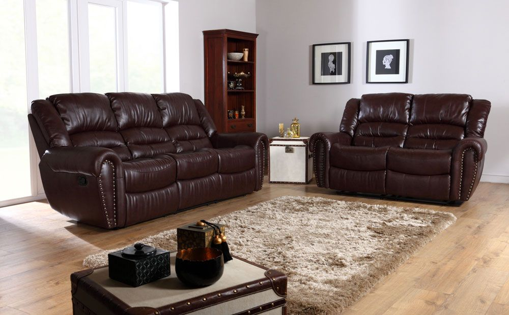 The Calgary Leather Recliner Sofas In Brown At Furniture Choice Http Www
