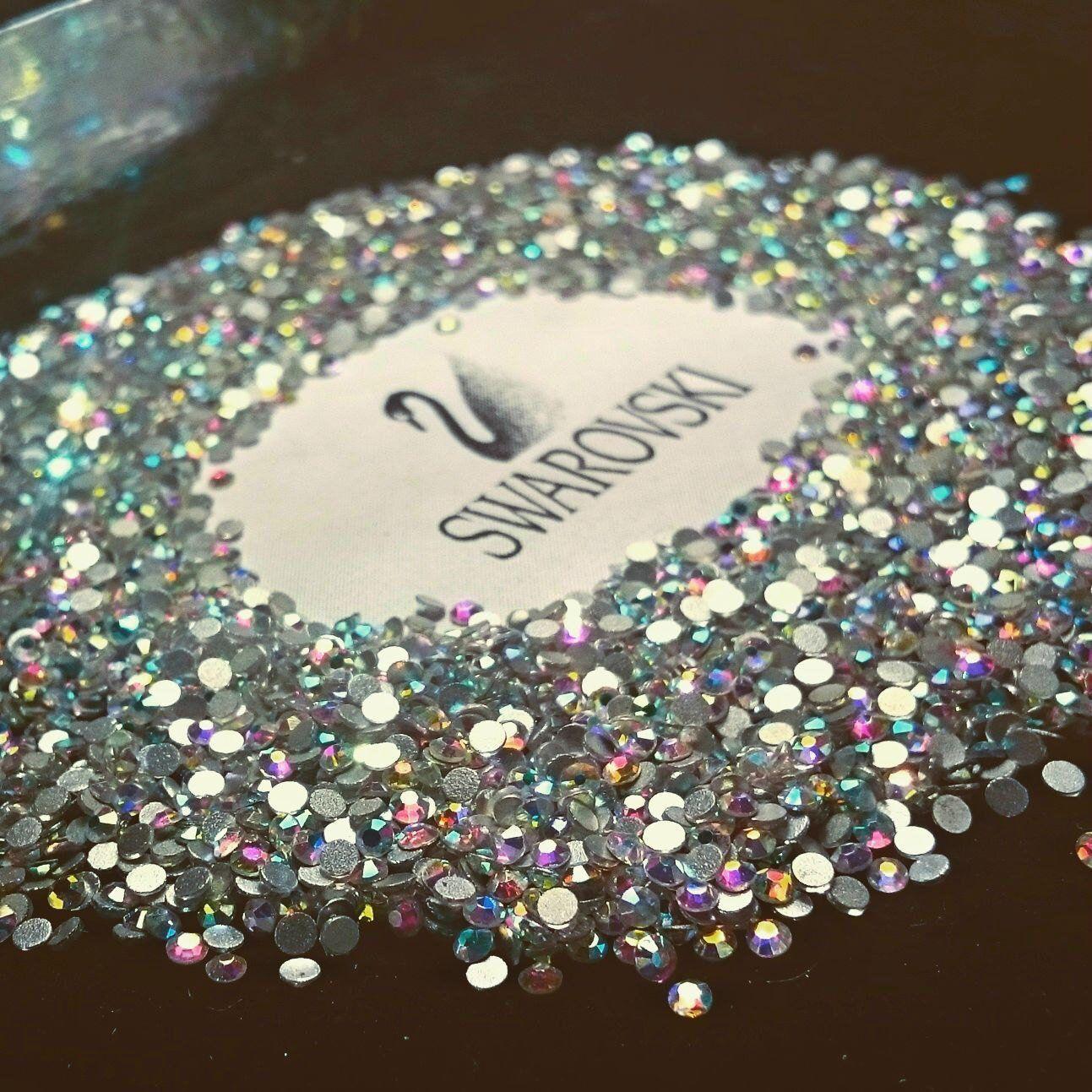 7d5a841dd5fa Swarovski crystals flat back stones gems rhinestones non hotfix 30 piece  crystal ab clear ALL Sizes