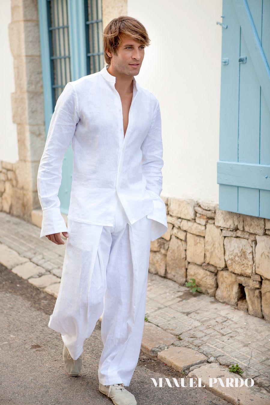 Dress code is white for men | camisa hombre | Pinterest