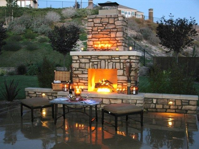 CA | Garden/Patio | Pinterest | Fireplace seating