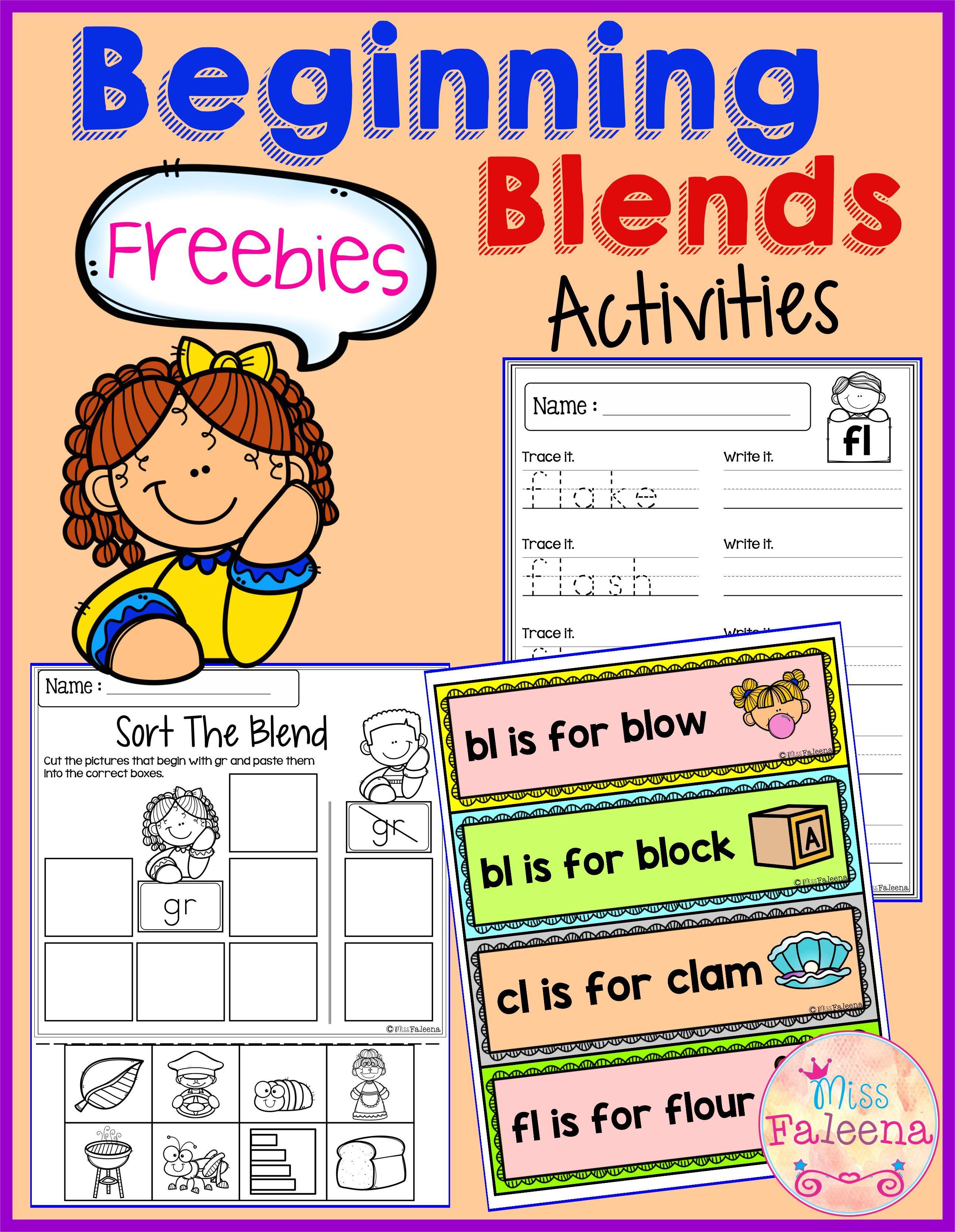 Free Beginning Blends Activities