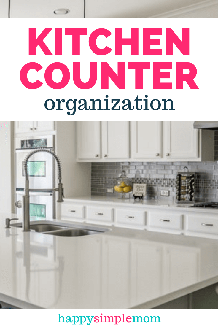 The Secret To Curing Kitchen Counter Clutter Kitchen Counter Organization Counter Organization Kitchen Counter