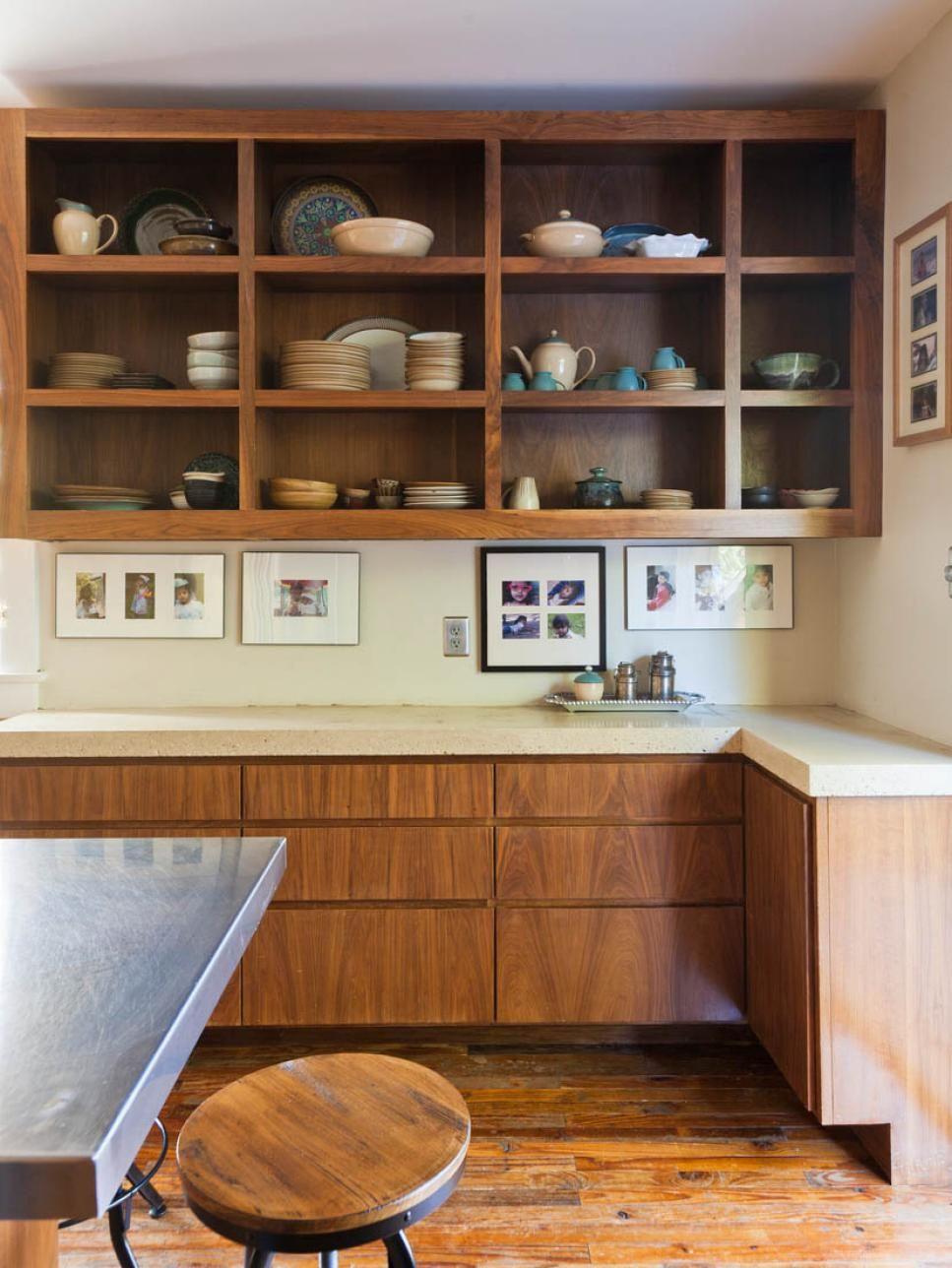 Tips For Open Shelving In The Kitchen Open Kitchen Cabinets Open Kitchen Shelves Modern Retro Kitchen