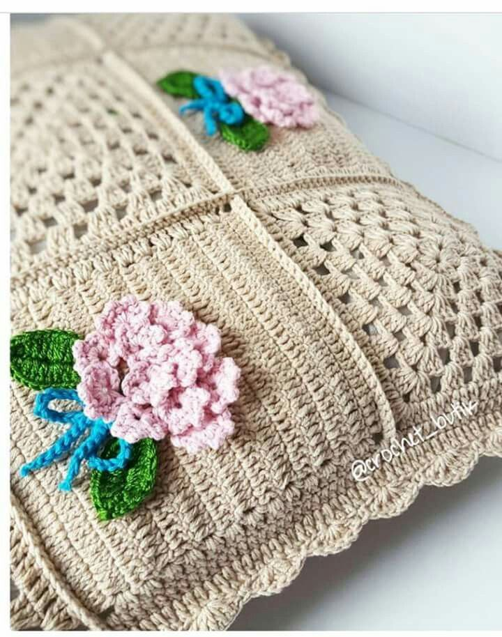 Pin de karin rabie en kussings | Pinterest | Punto de crochet, Manta ...
