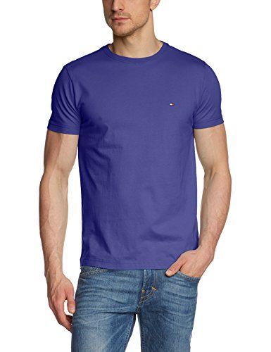 Tommy Hilfiger Herren T-Shirt FLAG TEE C-NK S/S RF,