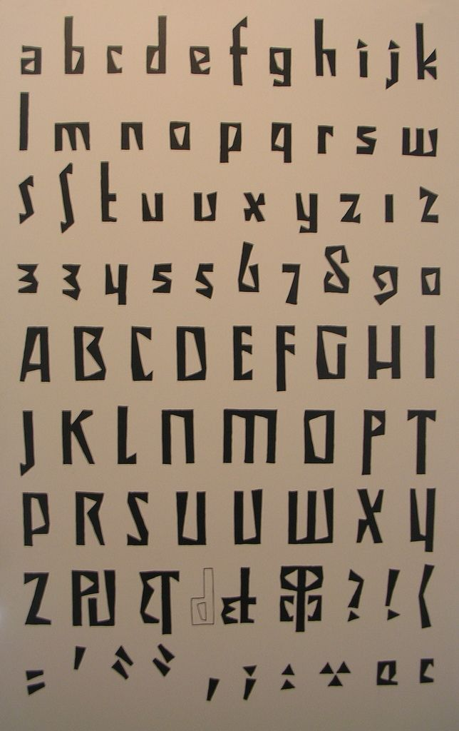 cubist alphabet, typography, museum of czech cubism, house