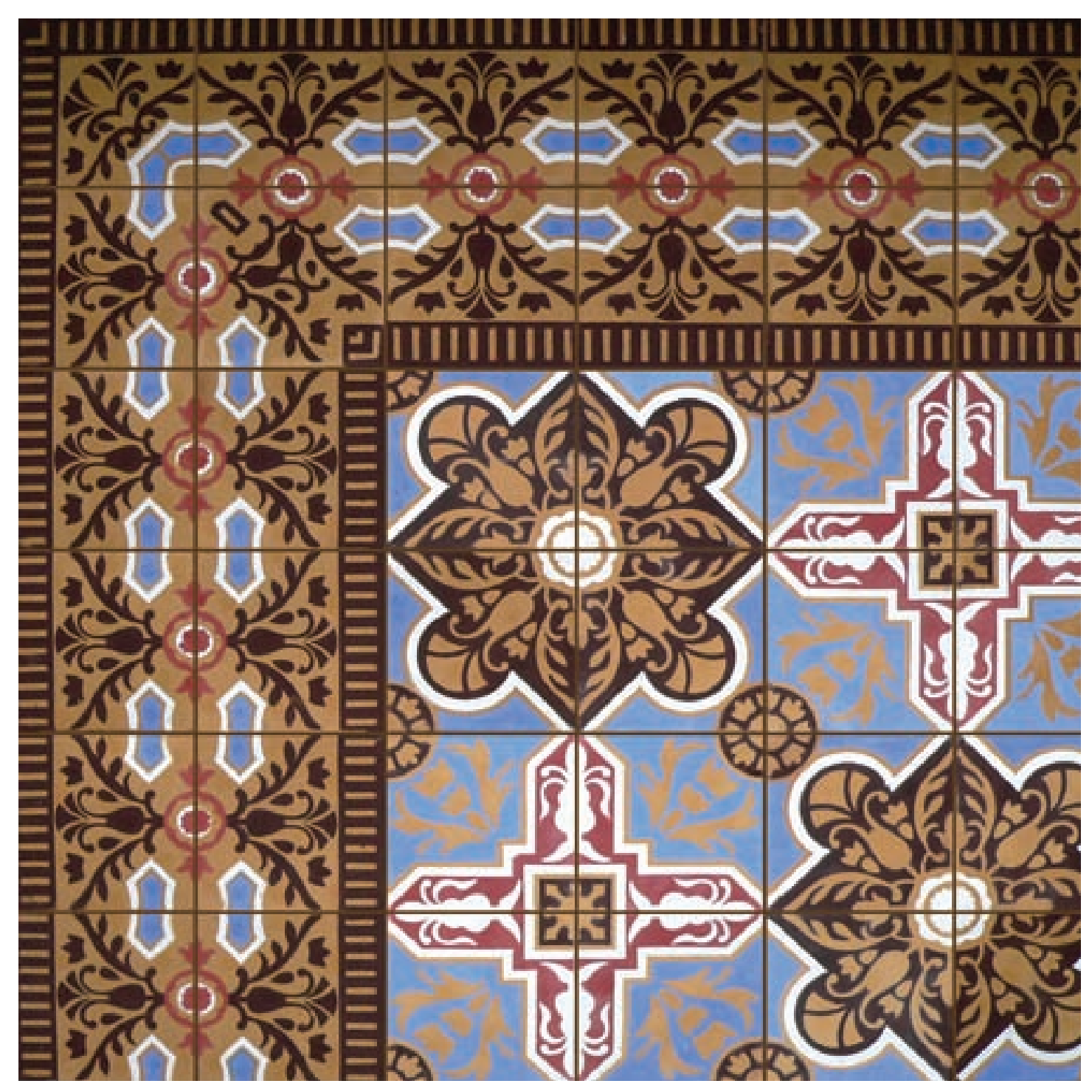 Patterned cement tile available at Statements In Tile / Lighting / Kitchens / Flooring.
