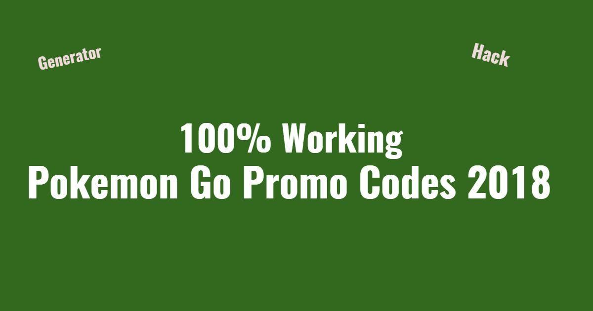 100% Working Pokemon Go Promo Codes List April 2019  Find
