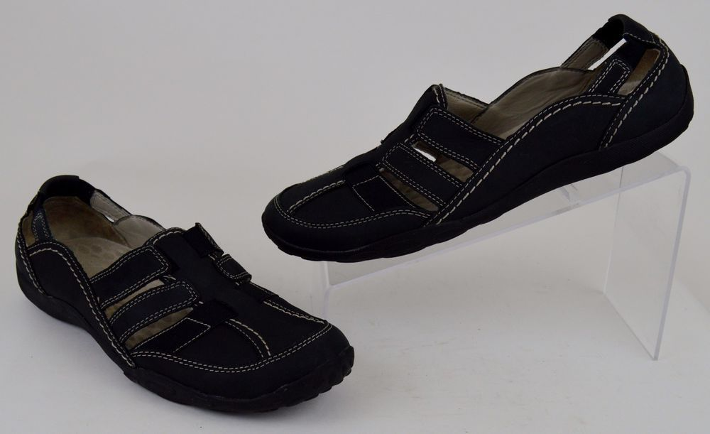Clarks Privo Women's Shoes Size 10 M Black Leather Flats #Clarks #Flats  #Casual