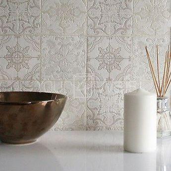 Photo of Details zu 'Marokkanische Kachel' Geometrisch Fliesen-effekt Tapete grau, Beige…