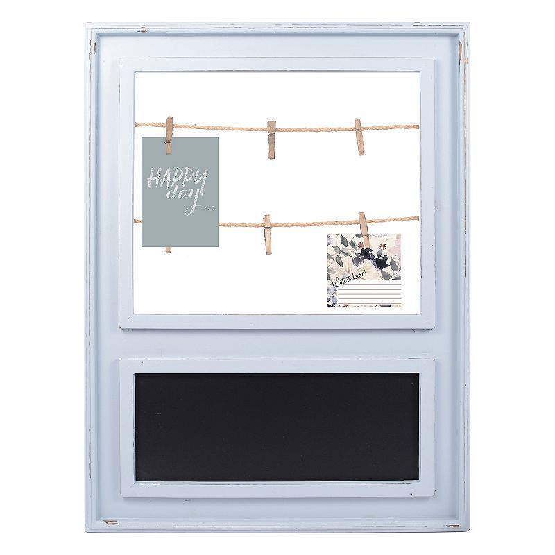 Parisian Home Photo Clip Chalkboard Wall Decor, Grey