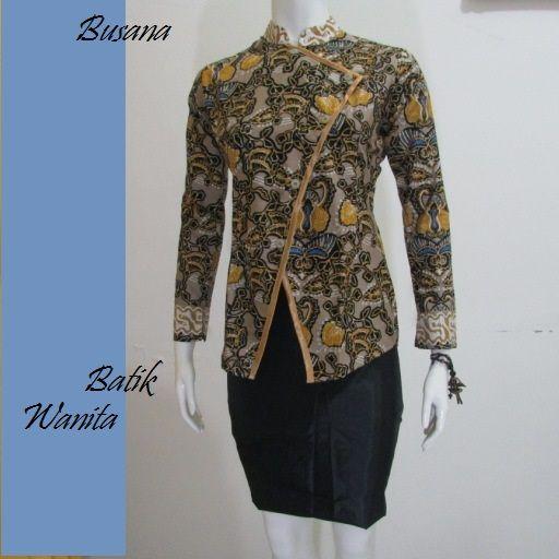 BATIK MODEL BLUS ELEGAN BB250  Model Blus Batik  Pinterest