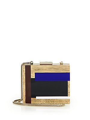 Tory Burch Color Cube Wooden Clutch