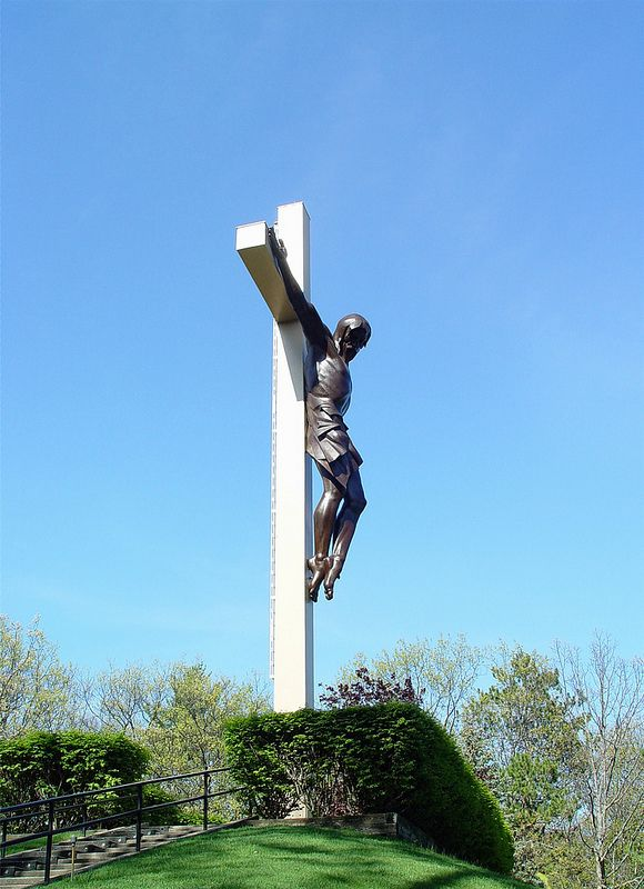 Cross in the Woods by sculptor Marshall Fredericks at