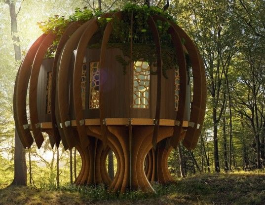 World's First Quiet Treehouse Provides Safe Haven in a Noisy Environment  Read more: click on photo - World's First Quiet Treehouse Provides Safe Haven in a Noisy Environment | Inhabitat - Sustainable Design Innovation, Eco Architecture, Green Building