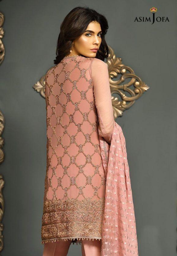 0a34f9b95d Pakistani Fancy Dresses Asim Jofa Mysorie Chiffon Collection 2018-19   New  suits   Pakistani fancy dresses, Dresses, Indian designer wear