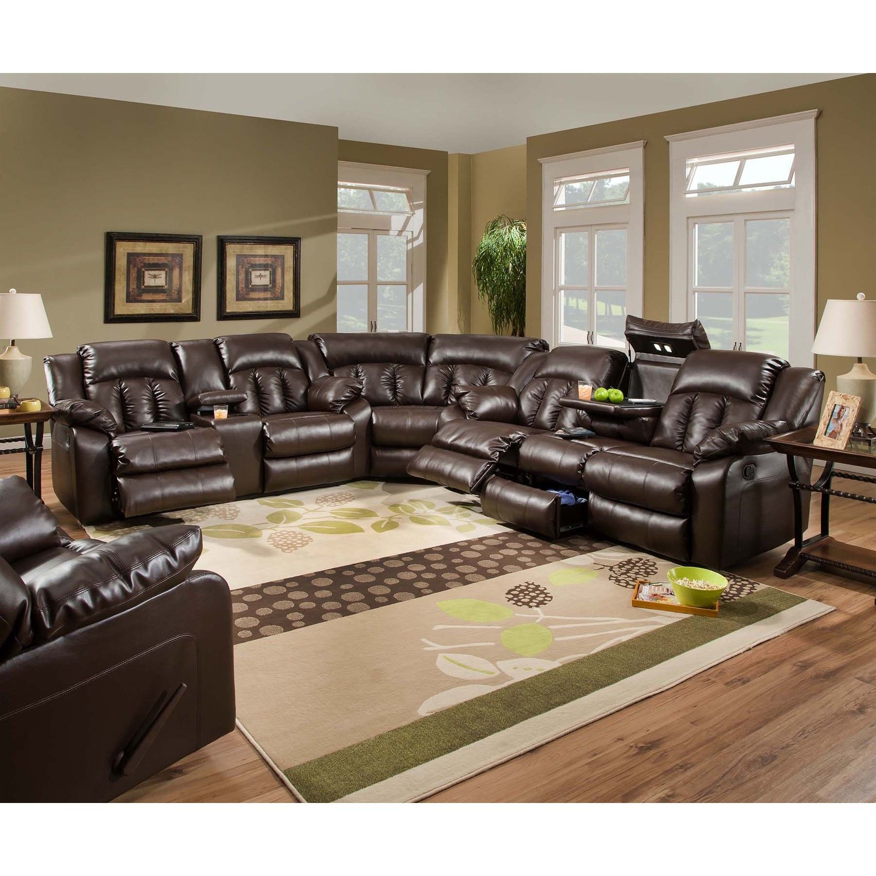 Awe Inspiring The Simmons Upholstery Sebring Motion Sectional Is Truly At Machost Co Dining Chair Design Ideas Machostcouk