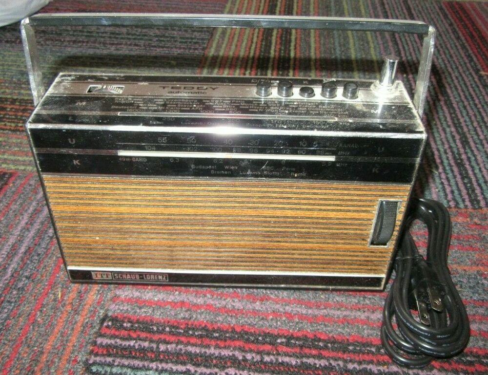 Itt Schaub Lorenz Teddy Automatic 100 Portable Ac Dc Transistor