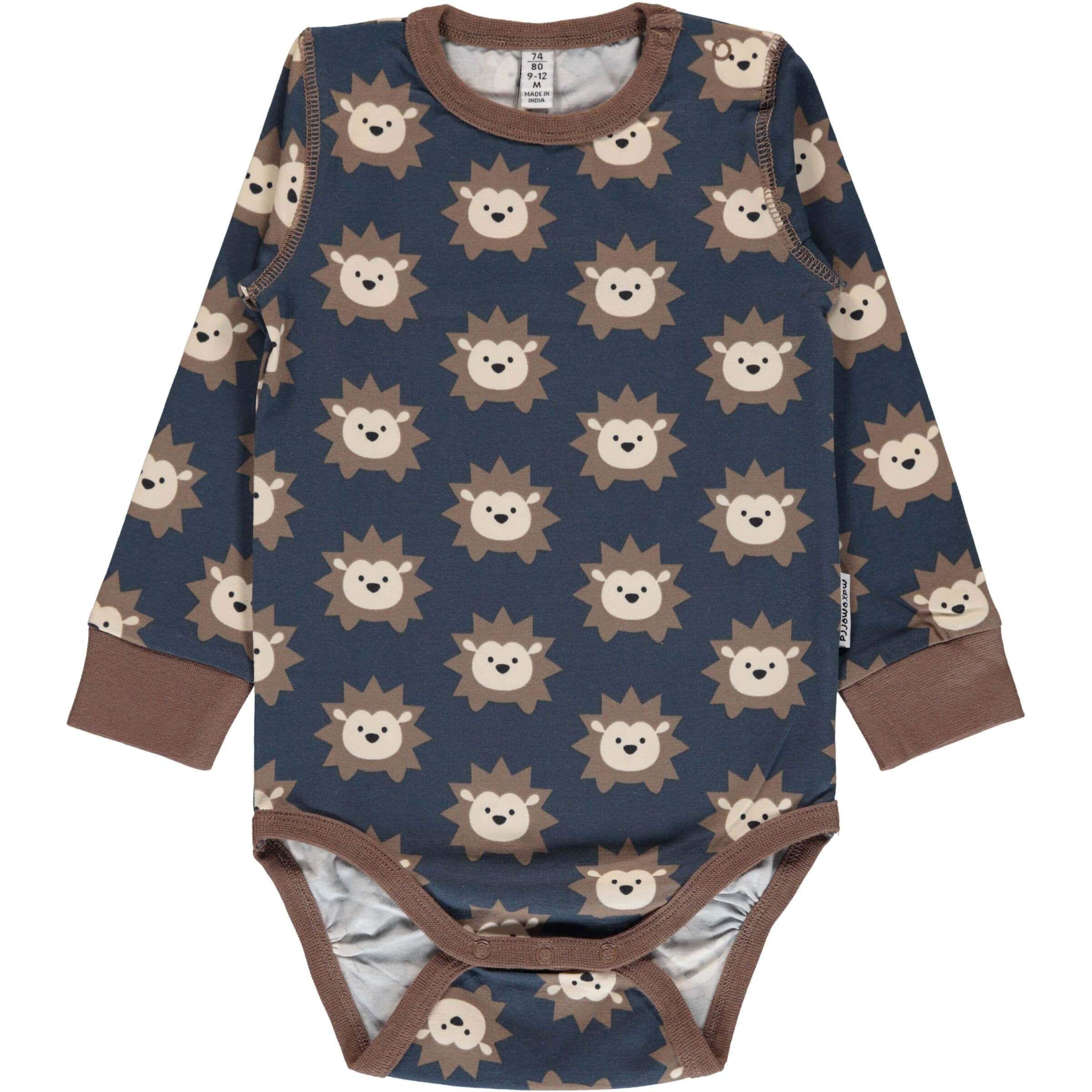 08278ef0d78b35 Hedgehog Long Sleeve Onesie – Modern Rascals. From Maxomorra
