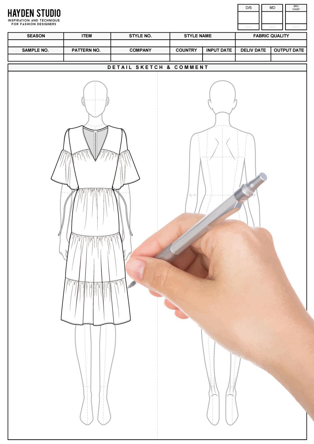 Women S 9head Body Figure Templates For Fashion Illustration Hydn Studio Fashion Figure Templates Fashion Figures Body Template
