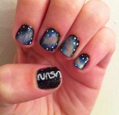 nasa galaxy nails  nails space nails gel nail designs